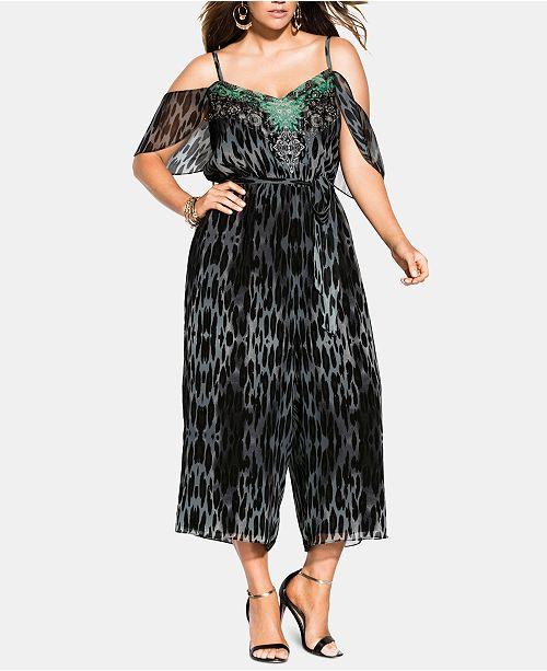 City Chic Plus Size Morocco Jumpsuit