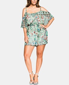 City Chic Plus Size Palermo Romper