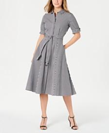 Calvin Klein Cotton Short-Sleeve Midi Shirtdress