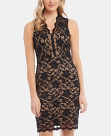 Karen Kane Sleeveless Lace Sheath Dress