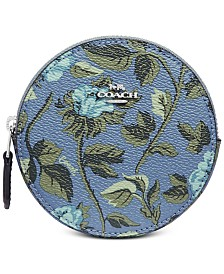 COACH Floral Round Coin Purse
