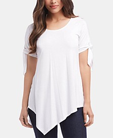 Tie-Sleeve Asymmetric Top