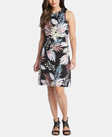 Karen Kane Sleeveless Printed Sheath Dress