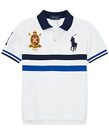 Polo Ralph Lauren Toddler Boys Striped Cotton Mesh Polo Shirt