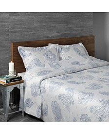 Sateen Paisley Sheet Set, King