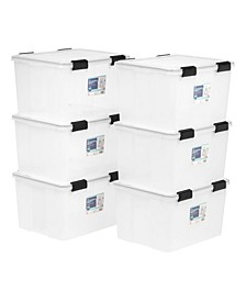 Iris 46 Quart Weather tight Storage Box, 6 Pack