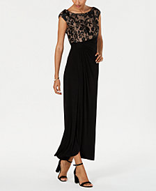 Connected Petite Embroidered Gown
