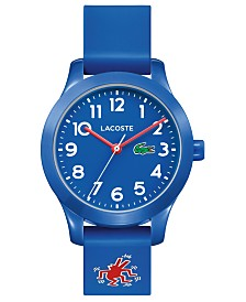 Lacoste x Keith Haring Kid's 12.12 Blue Rubber Strap Watch 32mm