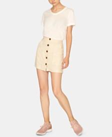 Sanctuary Trail Blazer Button-Front Utility Skirt