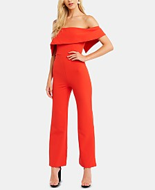 Bardot Off-The-Shoulder Jumpsuit