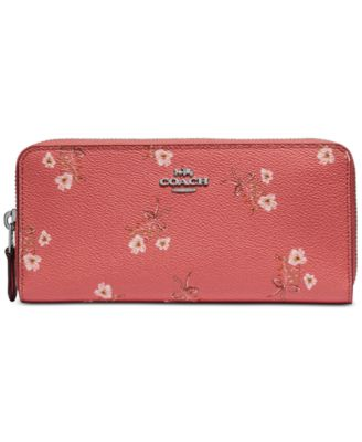 Floral Print Accordion Zip Wallet