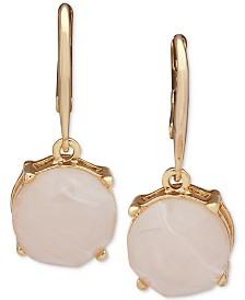 Lauren Ralph Lauren Gold-Tone Blush Stone Drop Earrings