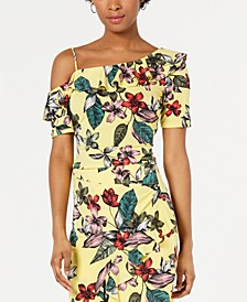 Mairin Printed One-Shoulder Top