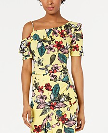 GUESS Mairin Printed One-Shoulder Top