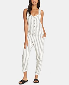 Billabong Juniors' Sun Seeker Cotton Striped Overalls