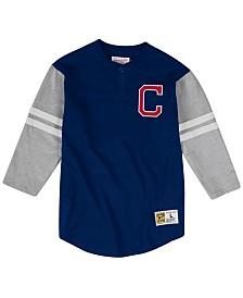 Mitchell & Ness Men's Cleveland Indians Heyday Henley T-Shirt