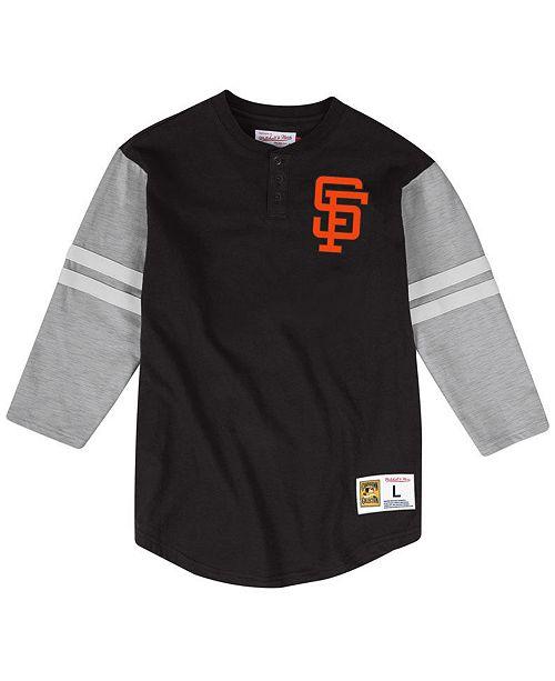 Mitchell & Ness Men's San Francisco Giants Heyday Henley T-Shirt