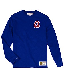 Mitchell & Ness Men's Big & Tall Atlanta Braves Slub Long Sleeve Top