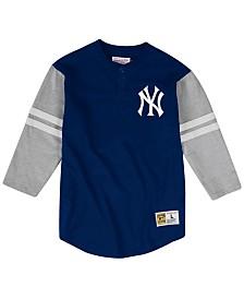 Mitchell & Ness Men's Big & Tall New York Yankees Heyday Henley T-Shirt