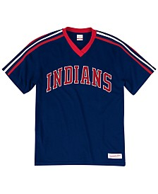 Mitchell & Ness Men's Big & Tall Cleveland Indians Coop Overtime Vintage Top