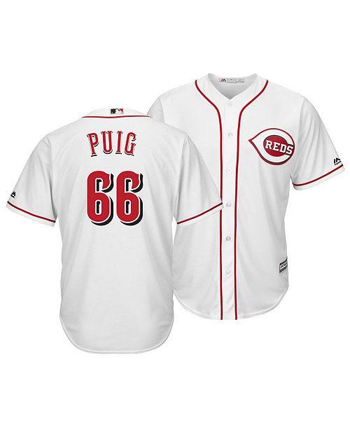 39d2a9883a2 ... Majestic Men s Yasiel Puig Cincinnati Reds Player Replica Cool Base  Jersey ...