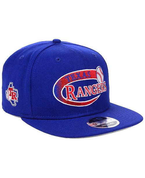 official photos 9b77a e9330 ... New Era Texas Rangers Swoop 9FIFTY Snapback Cap ...