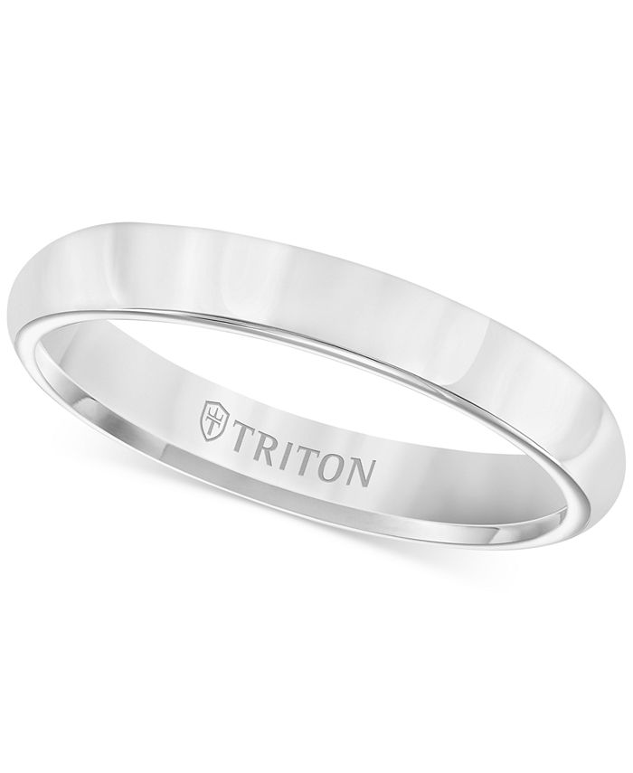 Triton - White Tungsten Ring, 3mm Wedding Band
