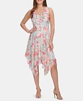 7c6f209e93a5 kensie Ruffled Handkerchief-Hem Dress