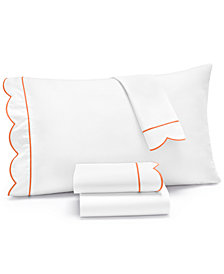Martha Stewart Collection Signature Scallop 3-Pc. Twin Sheet Set, 400 Thread Count 100% Cotton Percale, Created for Macy's