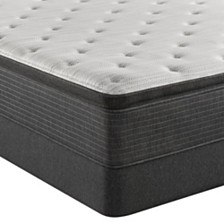 "Beautyrest Silver BRS900-TSS 14.75"" Plush Pillow Top Mattress Set - Queen, Created For Macy's"