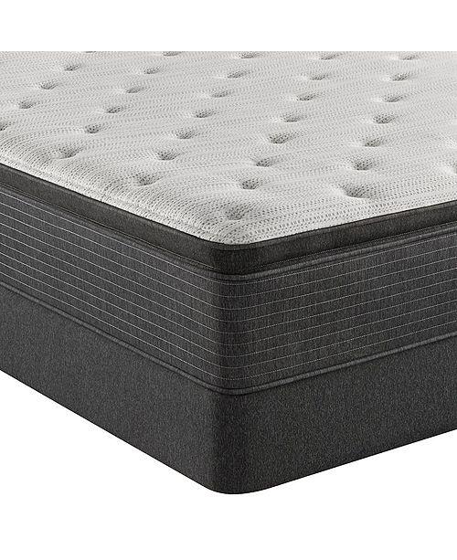 """Beautyrest BRS900-TSS 14.75"""" Plush Pillow Top Mattress Set - King, Created For Macy's"""