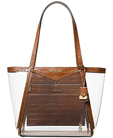 MICHAEL Michael Kors Whitney Clear Inset Tote
