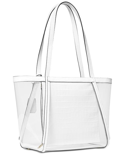 66730ff8ec80 Michael Kors Whitney Clear Inset Tote & Reviews - Handbags ...