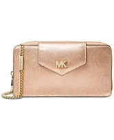 7e60f793d3b1 MICHAEL Michael Kors Metallic Pebble Leather Crossbody Clutch