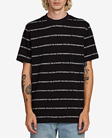 Men's Speak To You Logo Stripe Graphic T-Shirt