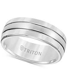 Men's Tungsten Carbide Ring, Comfort Fit Wedding Band (8mm)