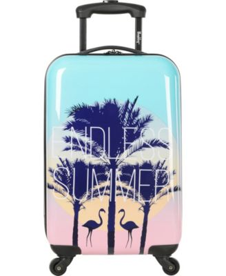 """Live It Up 20"""" Hardside Carry-On Spinner Suitcase"""