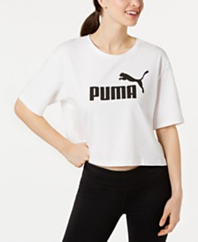 Puma Cotton Cropped Logo T-Shirt