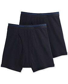 Jockey Men's Big & Tall 2-Pk. Lightweight Cotton Boxer Briefs