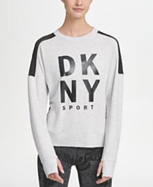 DKNY Sport Mesh-Panel Logo Sweatshirt, Created for Macy's