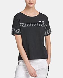 DKNY Sport Logo-Tape T-Shirt, Created for Macy's