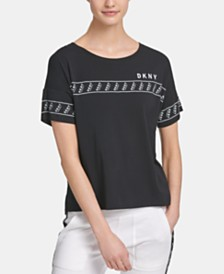 DKNY Sport Logo-Tape T-Shirt, Created for Macy's