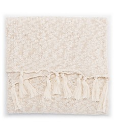 """Pacific Cream/White Solid Throw 50"""" X 60"""""""
