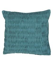 "Jaipur Living Florenza Teal Solid Down Throw Pillow 20"""