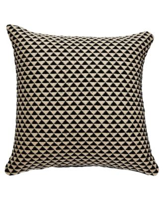 """National Geographic By Karoo Black/Ivory Geometric Down Throw Pillow 20"""""""