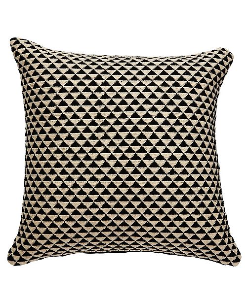 """Jaipur Living National Geographic By Karoo Black/Ivory Geometric Down Throw Pillow 20"""""""