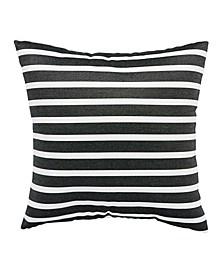 Shore Black/White Stripe Indoor/ Outdoor Throw Pillow Collection
