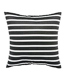 "Jaipur Living Shore Black/White Stripe Indoor/ Outdoor Throw Pillow 18"""