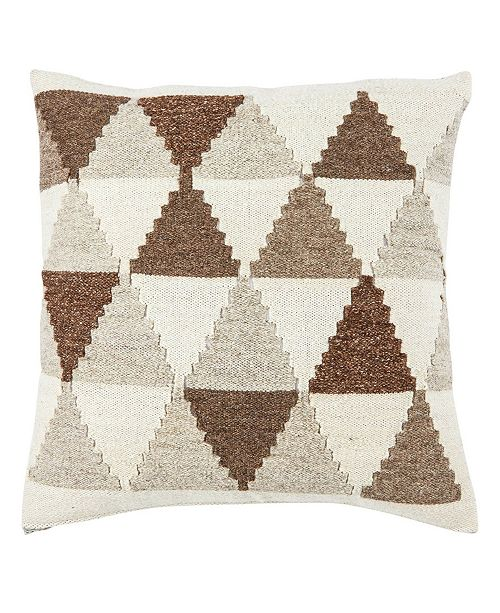 "Jaipur Living Terzan Brown/Gray Geometric Down Throw Pillow 20"""