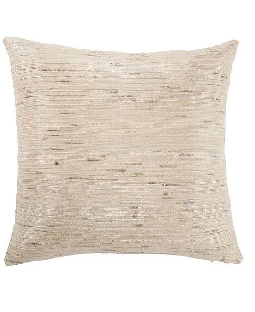 "Jaipur Living Metallic Silver/ Cream Textured Poly Throw Pillow 20"""